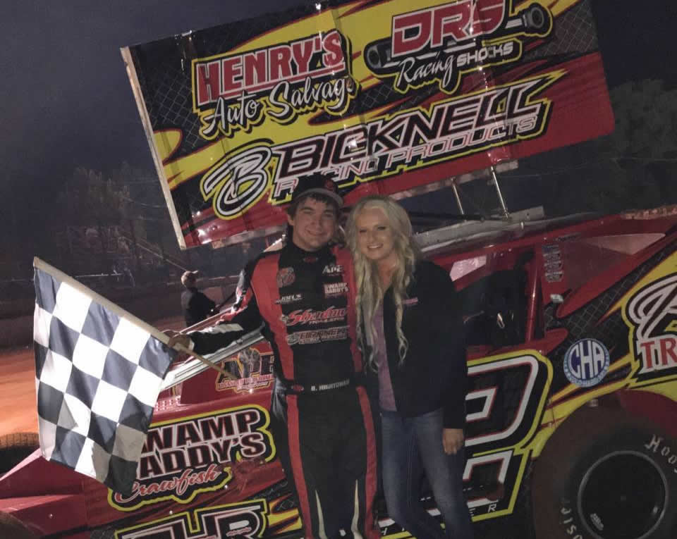 Brandon Hightower returned to action on Saturday evening making the short trip to Sabine Motor Speedway (Many, Louisiana) competing in the Winged Modified ...